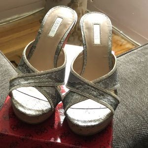Guess Shoes - Silver Guess Wedges
